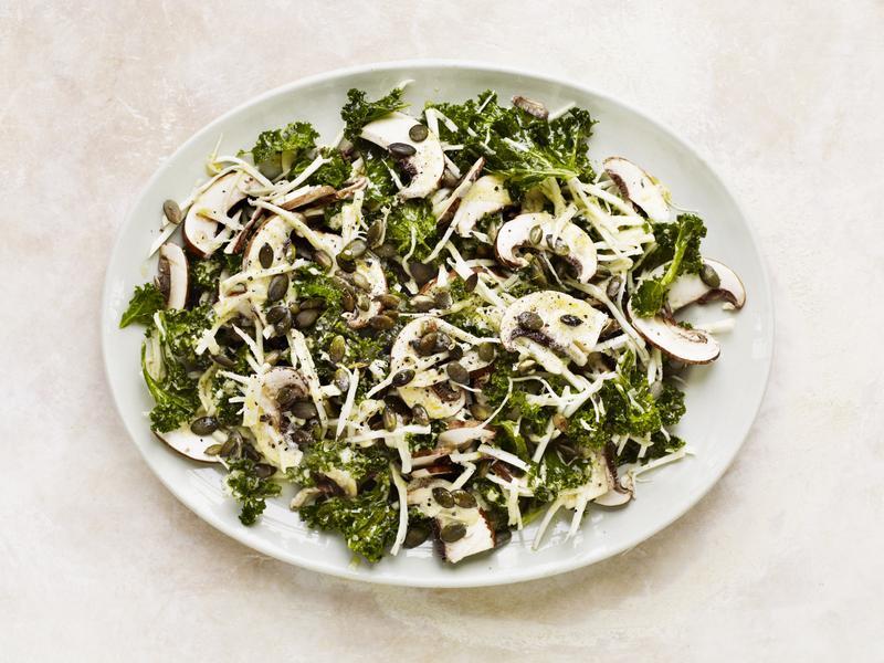 mushroom-and-kale-salad
