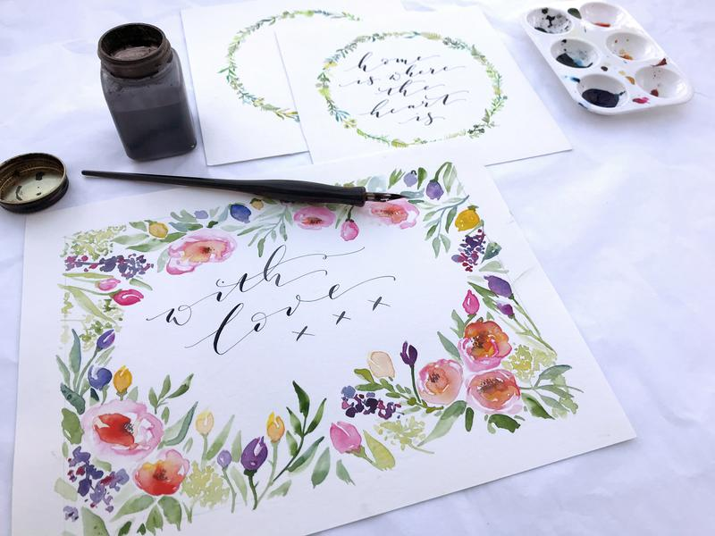 Watercolour Botanicals and Modern Calligraphy - Image 2