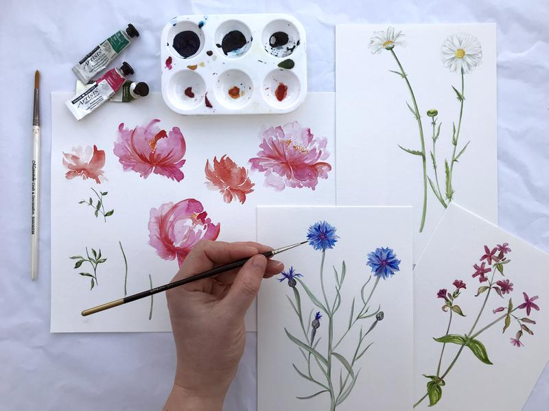 Watercolour Botanicals and Modern Calligraphy - Image 3