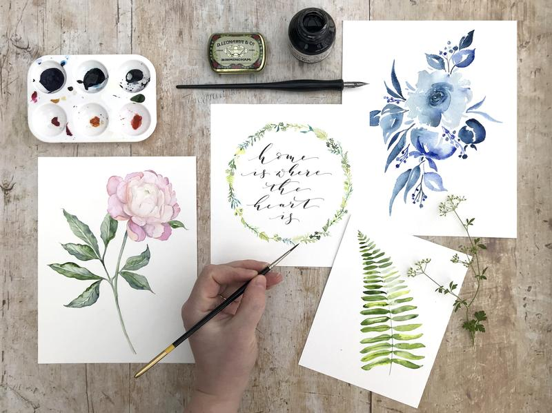 Watercolour Botanicals and Modern Calligraphy - Image 1