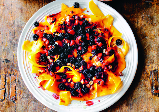 Squash, blackberries and apple