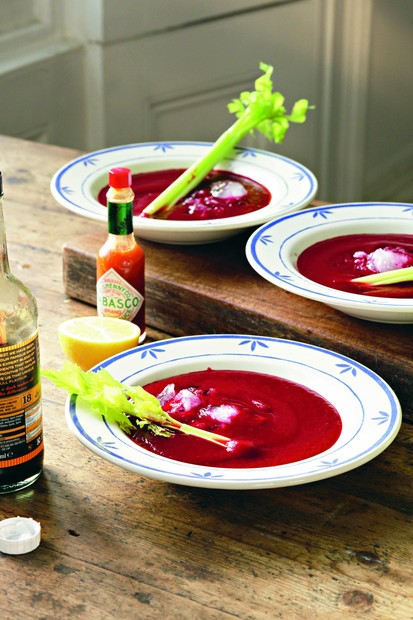 Bloody beetroot soup