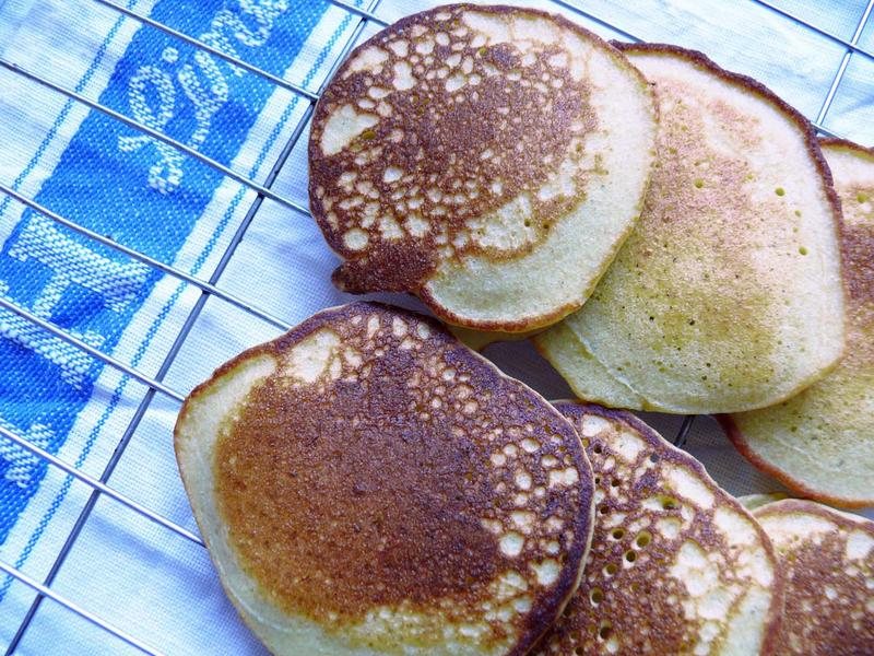 Buckwheat and almond blinis