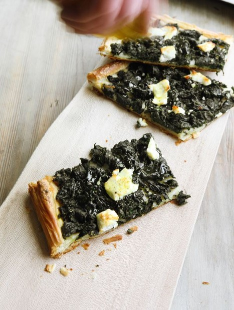 Nettles, cheese, puff pastry