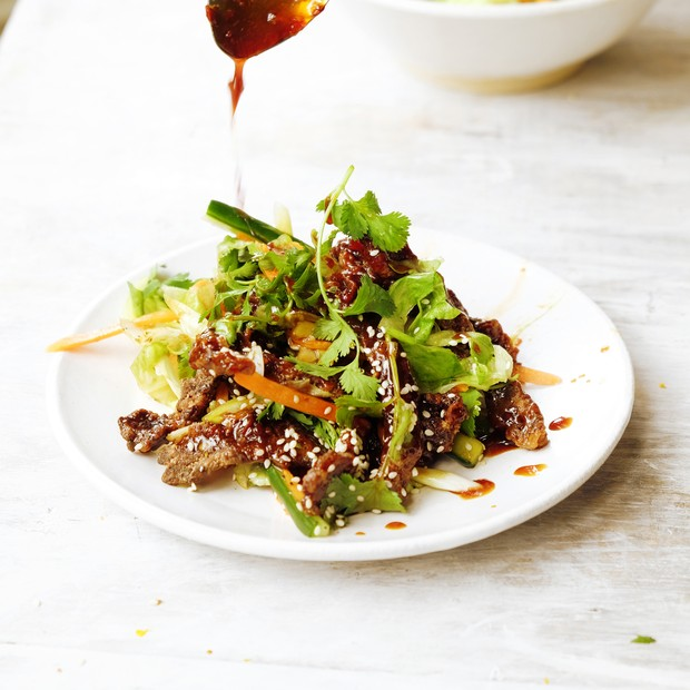 Chinese-style spicy crispy beef
