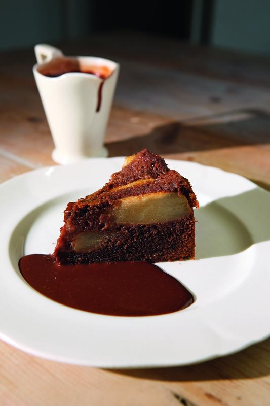 Chocolate pear cake