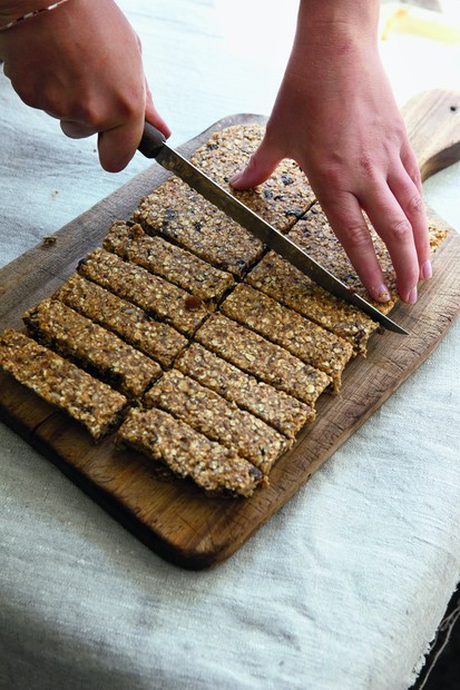 Fruity fridge flapjacks