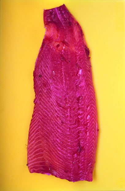 Gravadlax with beetroot
