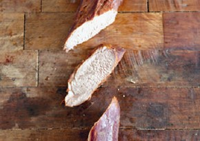 Hot-smoked pork tenderloin