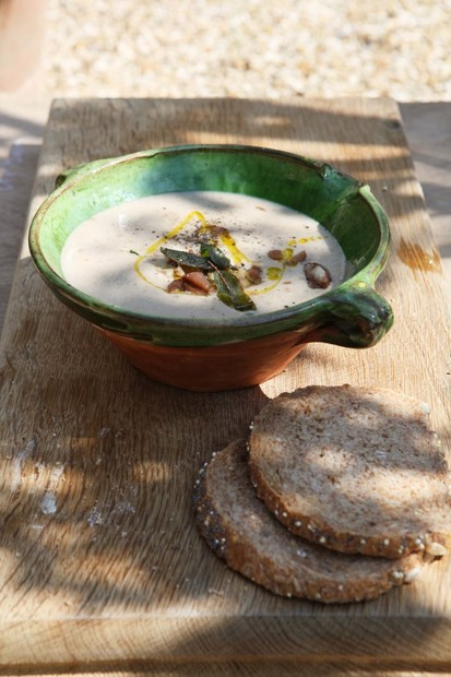 Chestnut and sage soup