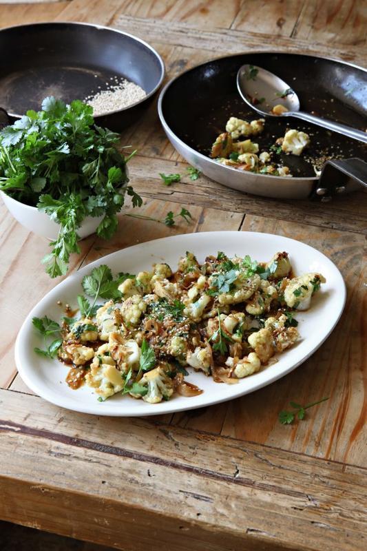 Stir-fried sesame cauliflower