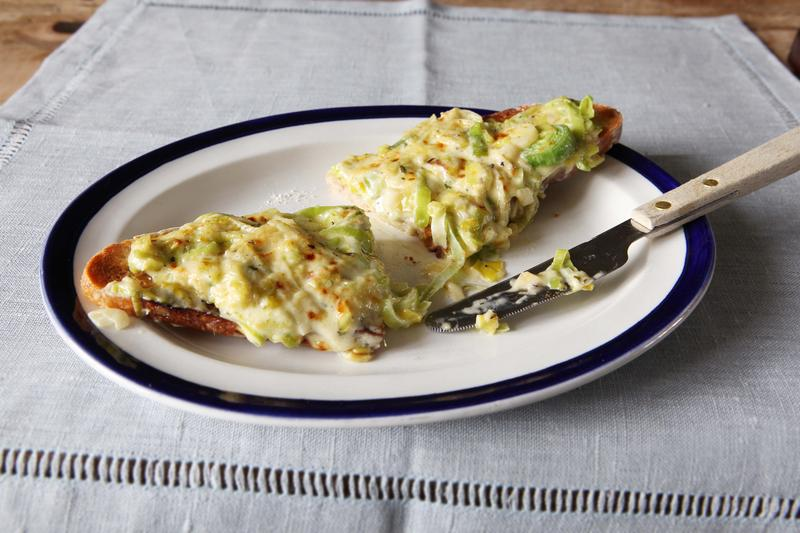 Leek and cheese toastie