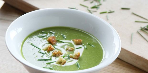 Cucumber and lettuce vichyssoise
