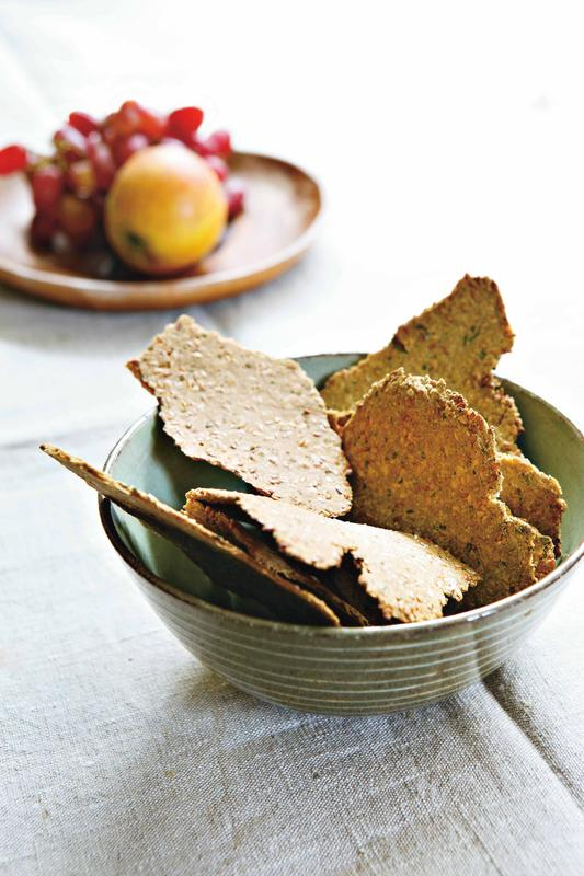 Linseed and rosemary crackers