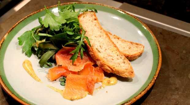 Spiced trout gravlax