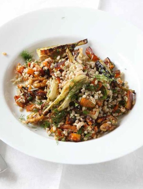 Spelt salad with squash and fennel