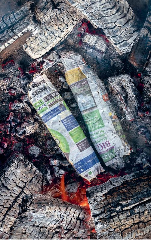 Newspaper-wrapped bream (or other whole fish)