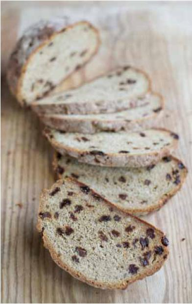 Soda bread with rosemary and sultanas