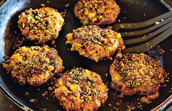 Squash and Chickpea Patties