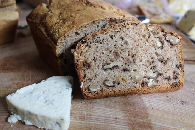 Festive fruity walnut beer bread